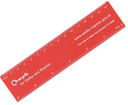 Recycled CD 15cm Rulers