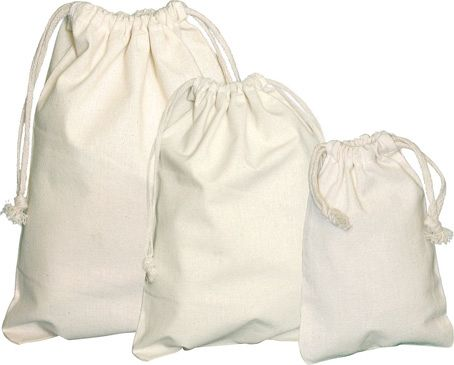 Drawstring Biodegradable Cotton Bags
