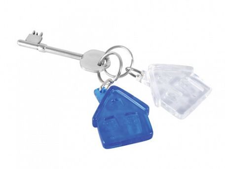 Frosted House Shaped Keyrings